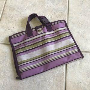 Thirty One Purple Stripe Hanging Cosmetic Bag